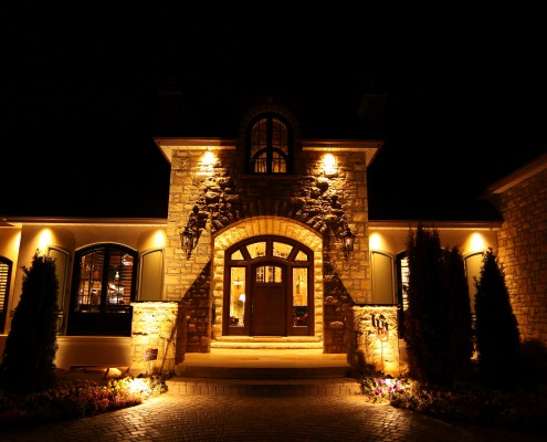 Front entryway home lighting