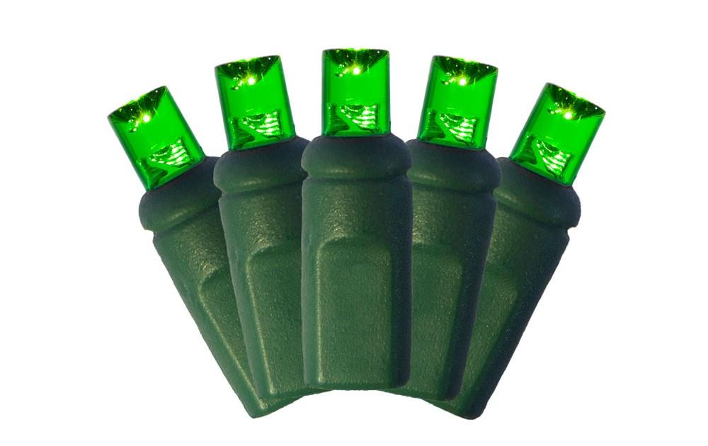 5mm Christmas Lights - Green | Brite Nites