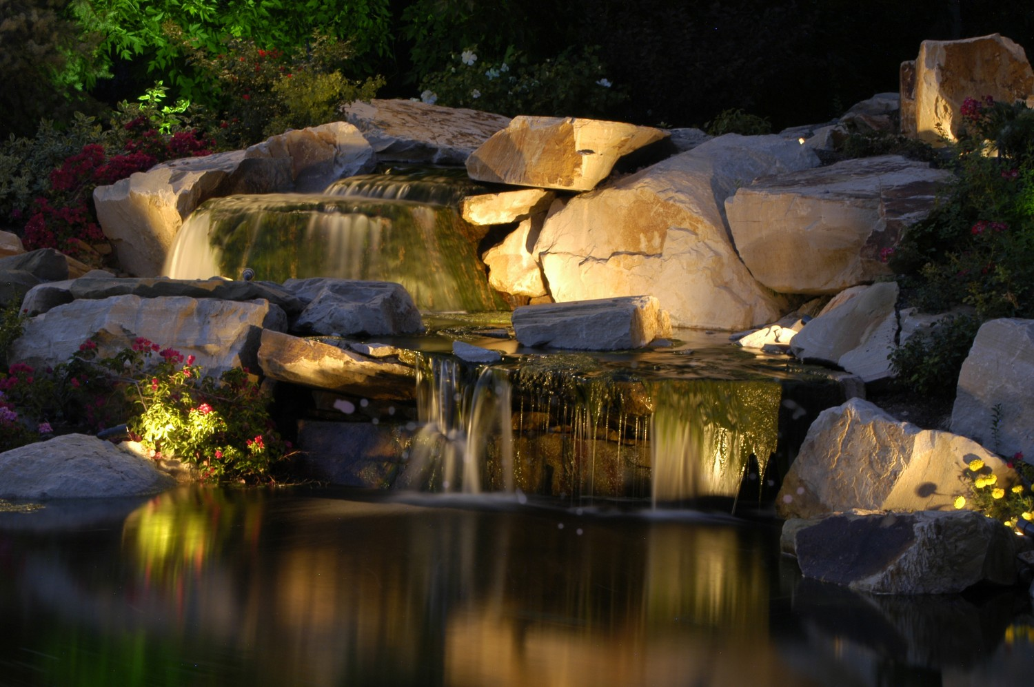 Professional Water Feature Amp Pool Lighting Utah Brite