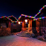 Driveway View of a Brite Nites Christmas Light Install