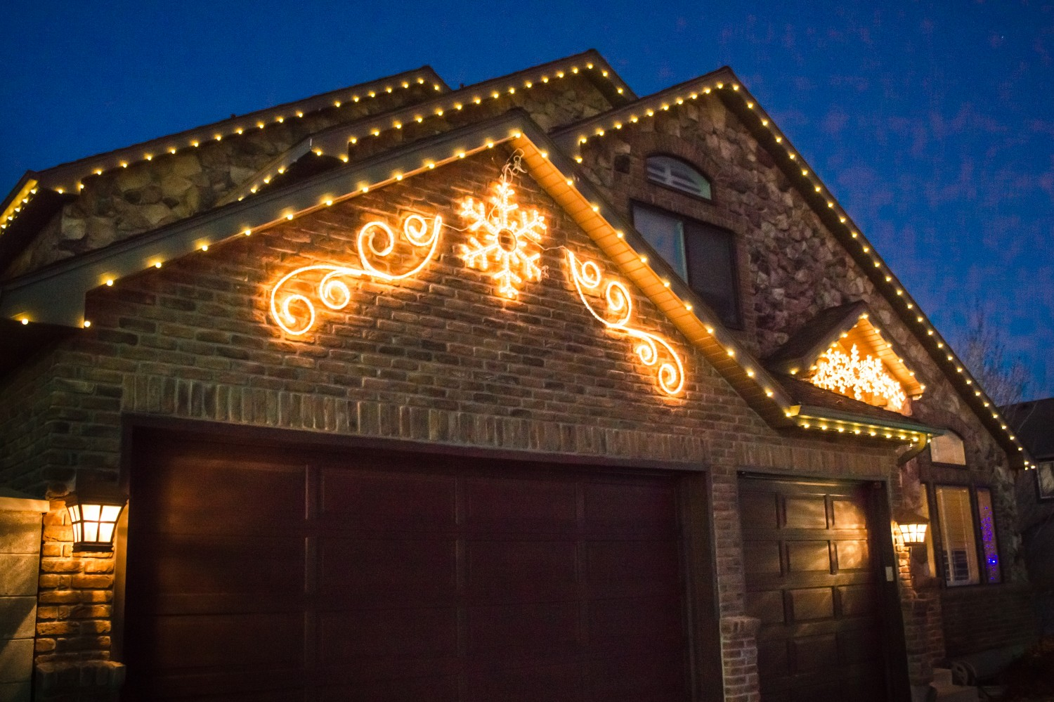 Unique Residential Christmas Lights by Brite Nites