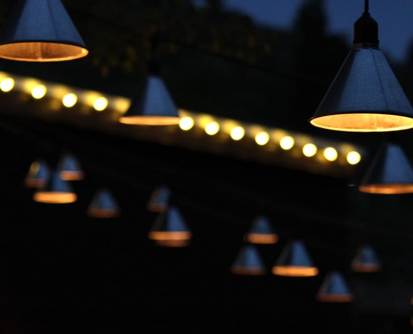 Patio Lighting Funnel Lights