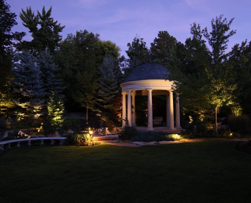 professional gazebo lighting in slc